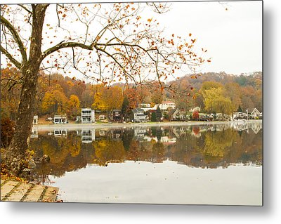 Autumn At The Housatonic Metal Print