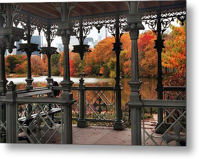 Autumn At The Ladies Pavilion Metal Print by Jessica Jenney