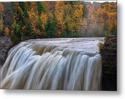Autumn At The Middle Falls  Metal Print