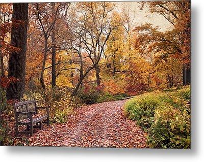 Autumn Azalea Garden Metal Print by Jessica Jenney