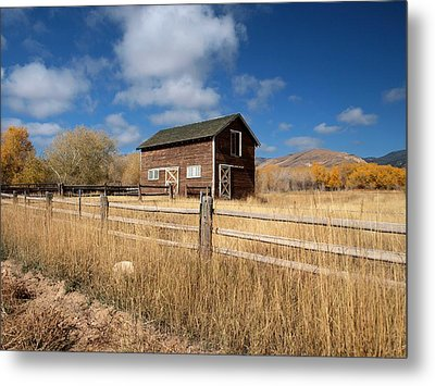 Autumn Barn Metal Print by Joshua House