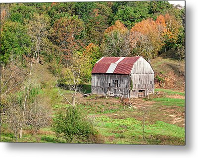 Autumn Barn Metal Print by Todd Klassy