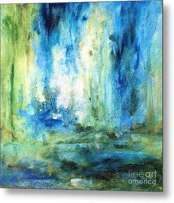 Metal Print featuring the painting Spring Rain  by Laurie Rohner