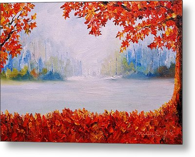 Autumn Blaze Maple Trees Metal Print