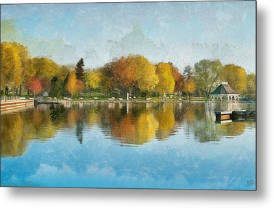 Autumn Blues Metal Print