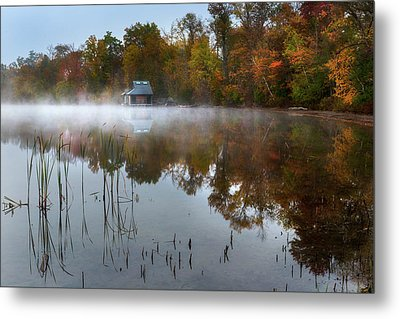 Autumn Boathouse Metal Print by Bill Wakeley