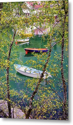 Autumn. Boats Metal Print by Dmytro Korol