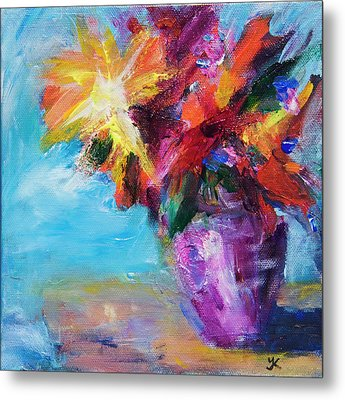 Colorful Flowers  Metal Print by Yulia Kazansky