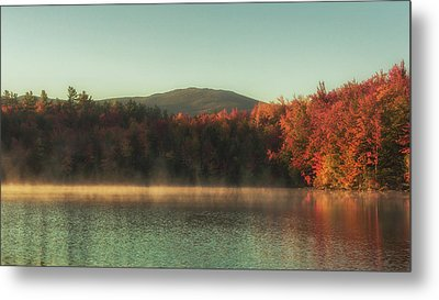 Autumn By The Mountain Lake Metal Print by Chris Fletcher