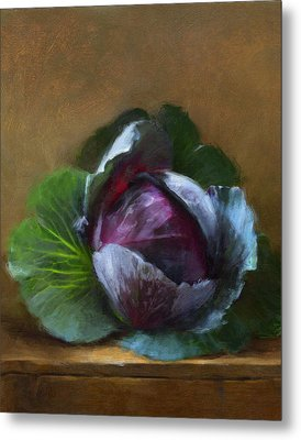 Autumn Cabbage Metal Print