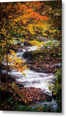 Autumn Cascade  Metal Print by Parker Cunningham