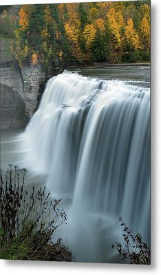 Autumn Cascade Metal Print by Timothy McIntyre