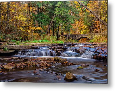 Autumn Cascades Metal Print