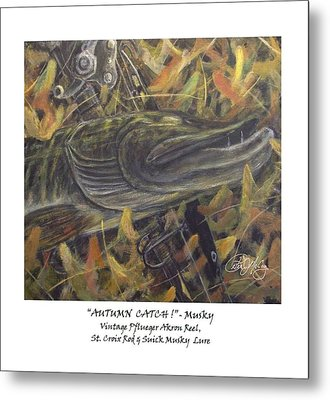 Autumn Catch - Musky Metal Print by Peter McCoy