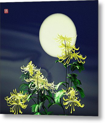 Autumn Chrysanthemums 2 Metal Print by GuoJun Pan