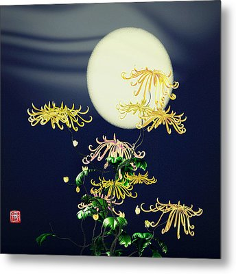 Autumn Chrysanthemums 4 Metal Print by GuoJun Pan