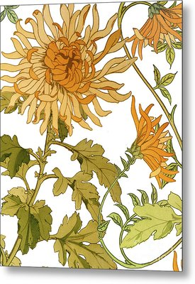 Autumn Chrysanthemums I Metal Print