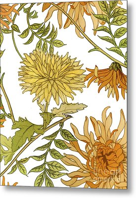 Autumn Chrysanthemums II Metal Print by Mindy Sommers