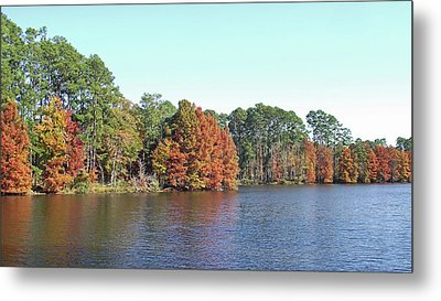Metal Print featuring the photograph Autumn Color At Ratcliff Lake by Jayne Wilson