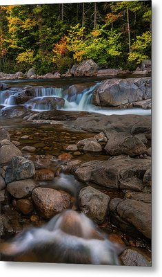 Metal Print featuring the photograph Autumn Colors In White Mountains New Hampshire by Ranjay Mitra
