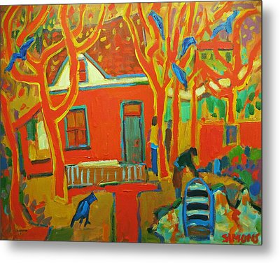 Autumn Cottages Metal Print by Brian Simons