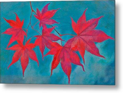 Autumn Crimson Metal Print by William Jobes