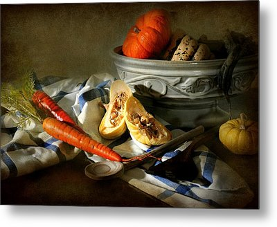 Autumn Crops Metal Print by Diana Angstadt