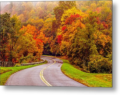 Autumn Drive On The Blue Ridge Metal Print by Alex Grichenko