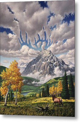 Autumn Echos Metal Print by Jerry LoFaro