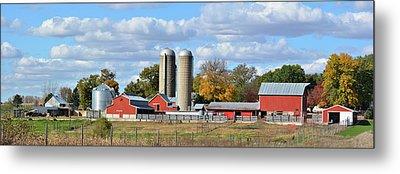 Autumn Elk Farm Metal Print by Bonfire Photography