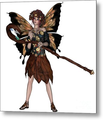 Autumn Fairy Metal Print by Corey Ford
