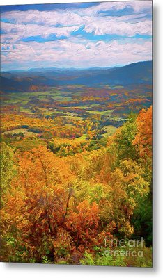Autumn Fall Colors In The Arnold Valley Ap Metal Print by Dan Carmichael