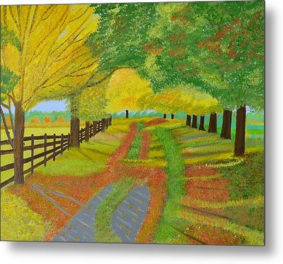 Autumn- Fallen Leaves Metal Print by Magdalena Frohnsdorff