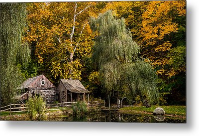Autumn Farm Metal Print by Glenn DiPaola