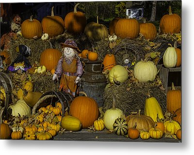 Autumn Farm Stand Metal Print by Garry Gay