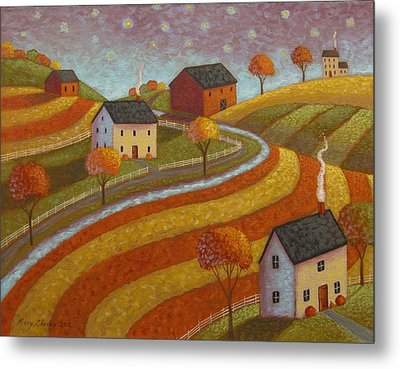 Autumn Farmland Metal Print
