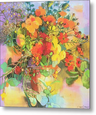 Autumn Flowers  Metal Print by Claire Spencer