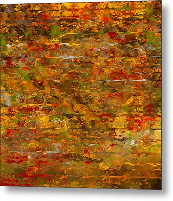 Autumn Foliage Abstract Metal Print by Lourry Legarde