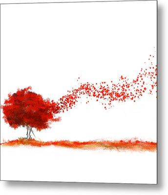 Autumn Foliage Impressionist Metal Print by Lourry Legarde
