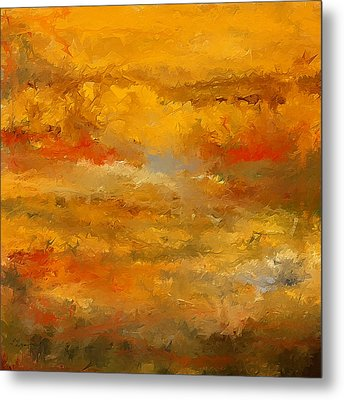 Autumn Foliage Impressions Metal Print by Lourry Legarde