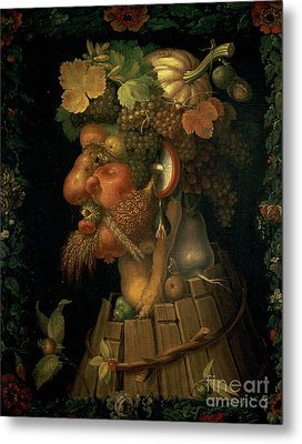 Autumn Metal Print by Giuseppe Arcimboldo