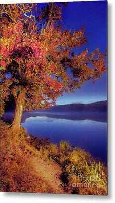 Metal Print featuring the photograph Autumn Glow Before Sunrise In The Blue Ridge by Dan Carmichael