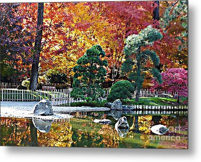 Autumn Glow In Manito Park Metal Print by Carol Groenen