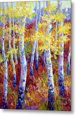 Autumn Gold Metal Print by Marion Rose