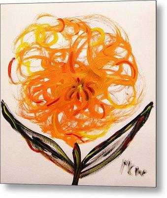 Autumn Hope Flower Metal Print by Mary Carol Williams