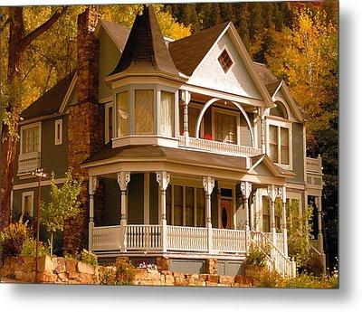 Autumn House Metal Print by David Lee Thompson