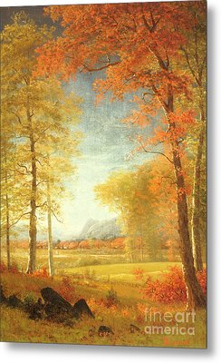Autumn In America Metal Print by Albert Bierstadt
