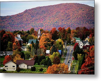Autumn In Danville Vermont Metal Print