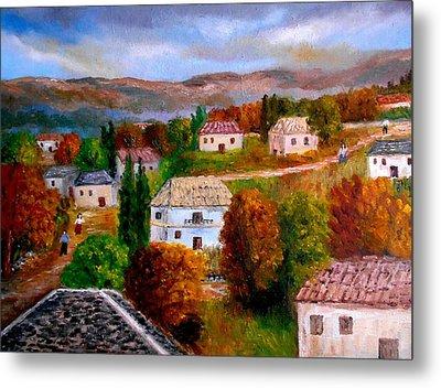 Autumn In Greece Metal Print