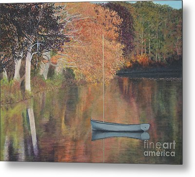 Autumn In Hamburg Cove Metal Print